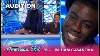 William Casanova: A SMOOTH-TALKER Gets Katy Perry To Show Off Her Feet! | American Idol 2018