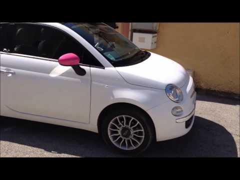 Spc Vitres Teintées Total Covering Fiat 500c Blanc Mat La Londe Hyeres La Garde Var Paca