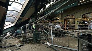 فيديو.. قطار يقتحم محطة ركاب في ولاية نيوجيرزي الأمريكية