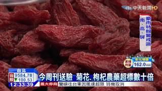 中天新聞 今周刊送驗 菊花、枸杞農藥超標數十倍