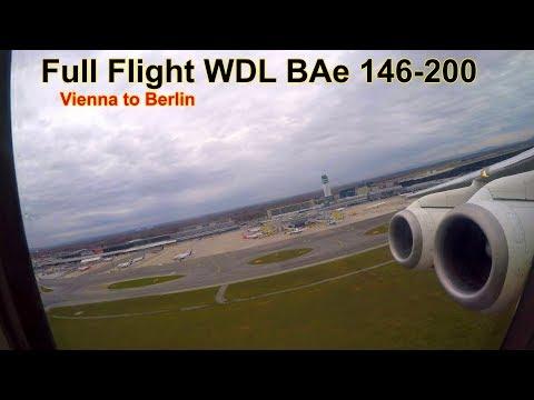FULL FLIGHT! WDL Aviation/Easyjet BAe 146-200 from Vienna to Berlin Tegel | Seat 1F