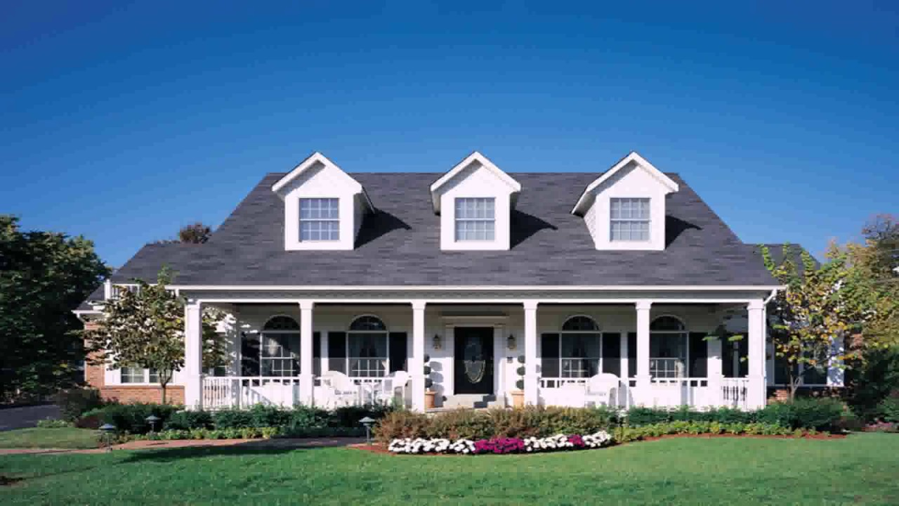 Cape cod style house with front porch youtube for Cape cod style house