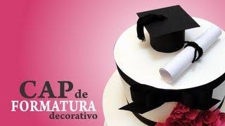 Como fazer um chapéu de formatura decorativo