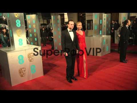 Rafe Spall, Elize Du Toit at EE British Academy Film Awar...