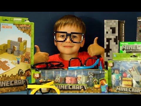 Открываем Посылку с Игрушками Майнкрафт. Фигурки Minecraft. VLOG Kokatube LIVE