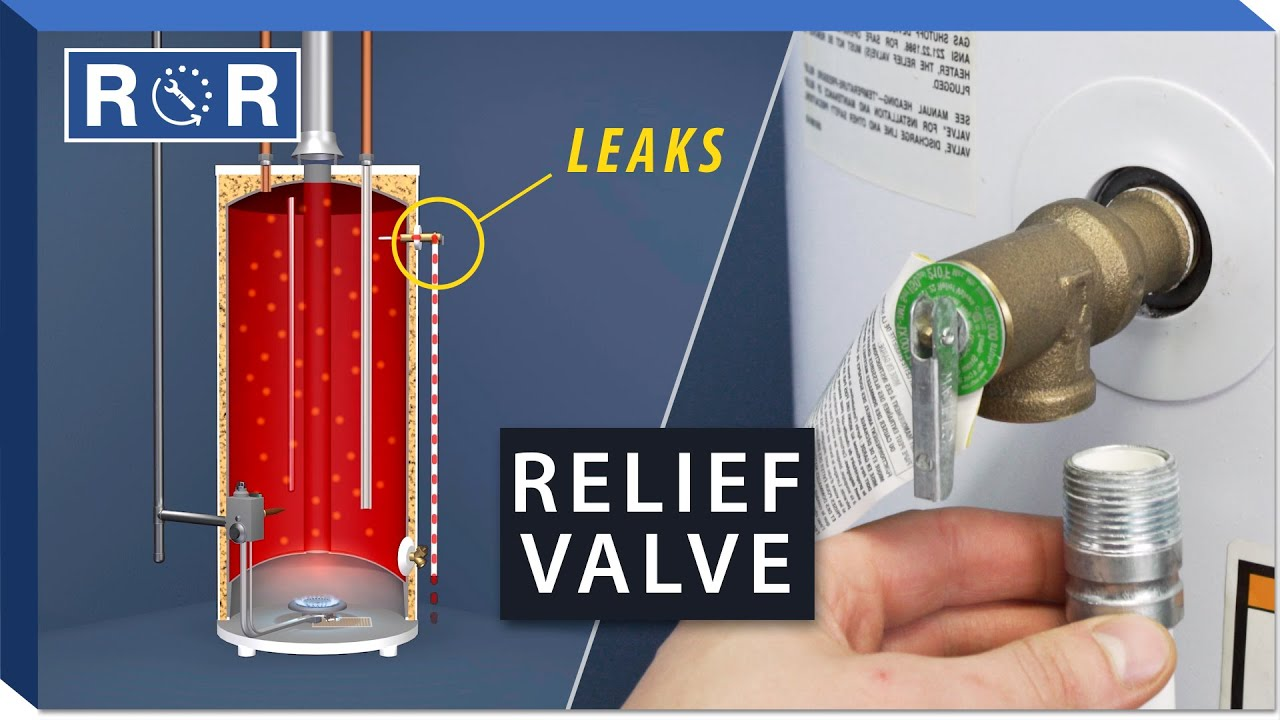 Water Heater Pressure Relief Valve Repair And Replace Youtube