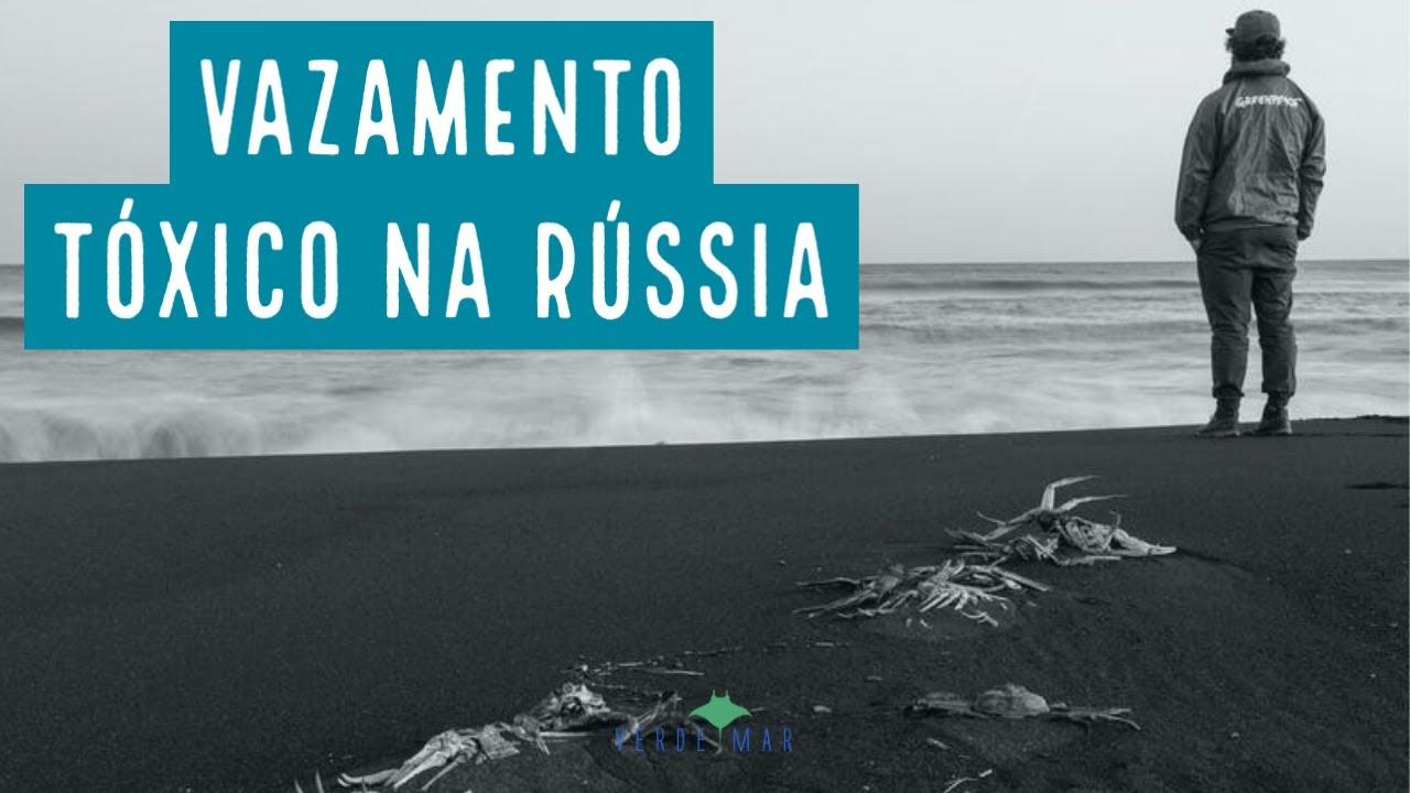 Vazamento tóxico no mar russo
