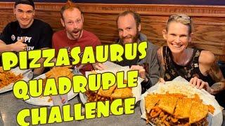 PIZZASAURUS REX DOUBLE SANDWICH CHALLENGE | GIRL EATS MASSIVE PLATES OF FOOD | MODEL VS FOOD IS SICK