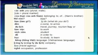Learning Vietnamese-Conversation 2-every day conversation