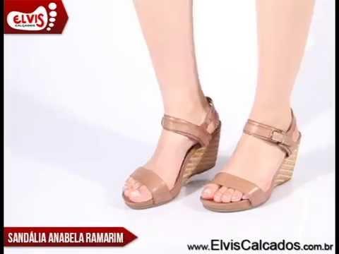 17200425d Sandália Anabela Média Ramarim Total Comfort 14-12204 - YouTube