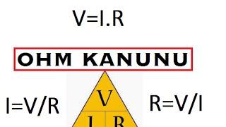 OHM KANUNU - FORMÜLLER VE ÖRNEKLER - 7. SINIF ELEKTRİK