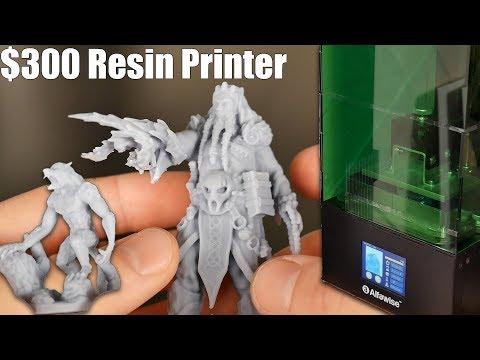 Alfawise W10 Budget Resin 3D Printer Print Quality & Workflow