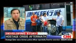 PRC Chairman Richard Gordon talks to CNN about the Manila Hostage Crisis Aftermath