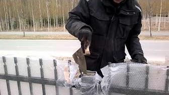 LammiAita 8 Tolppa täytetään betonilla täyteen ja hattu paikalleen