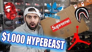 $1,000 HYPEBEAST MYSTERY BOX!! (SUPREME + BAPE + ????)
