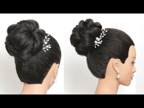 Womenbeauty1s Beautiful Bun Hairstyle For Long Hair Wedding Style