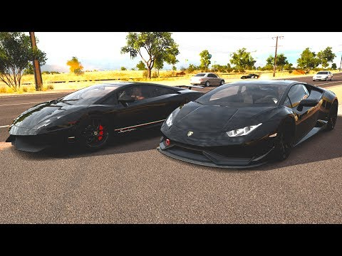 Lamborghini Gallardo V12 Biturbo vs Lamborghini Huracan - Forza Horizon 3 (G27 mod)