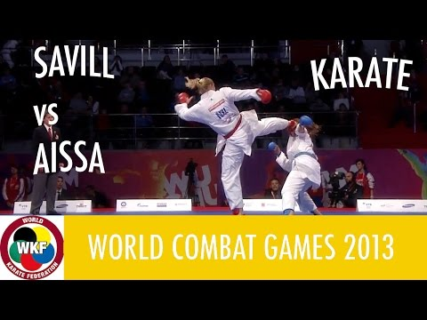 Karate Women's Kumite +68kg. SAVILL vs AISSA. World Combat G
