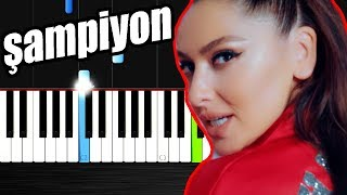 Hadise - Şampiyon - Piano Tutorial by VN Resimi
