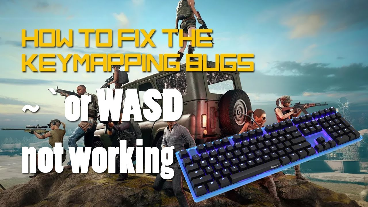 How to fix ~ and wasd keymapping on Tencent Gaming Buddy