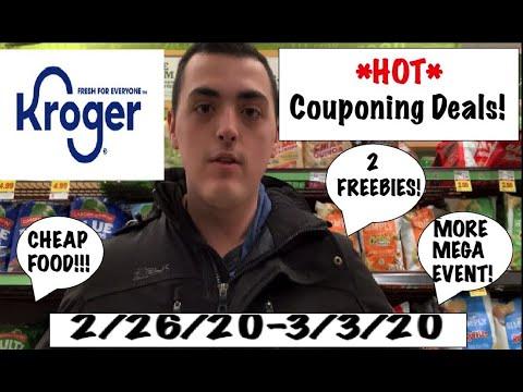 *HOT* Kroger Couponing Deals!–2/26/20-3/3/20– 2 FREEBIES, CHEAP FOOD, MORE MEGA EVENT!