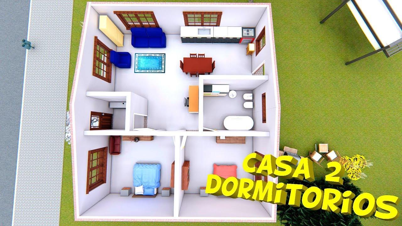 Diseno De Dos Cuartos Y Un Bano - Diseño De Casa