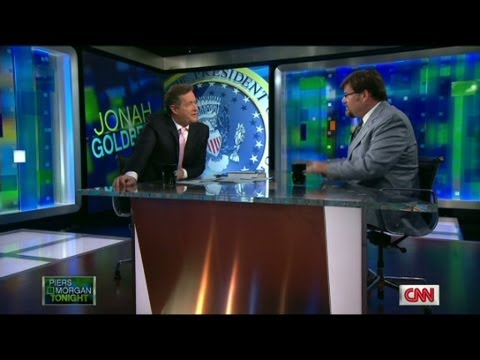 Piers Morgan debates with Jonah Goldberg