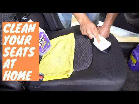 How To Clean Cloth Car Seats At Home With Just A Brush