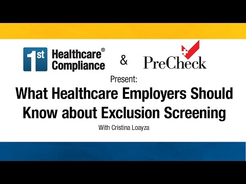 What Healthcare Employers Should Know about Exclusion Screen