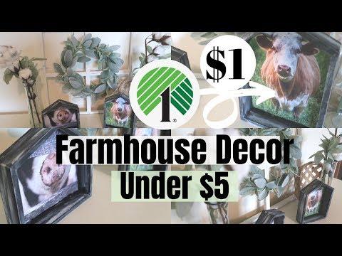 FARMHOUSE DECOR DIY | DOLLAR TREE DIY | HOME DECOR UNDER $5 | FARMHOUSE STYLE DECOR