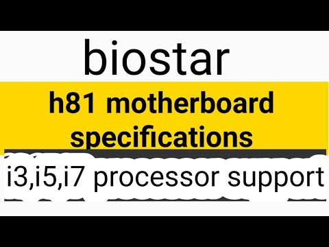 Biostar H81 Motherboard Specifications Tamil