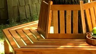 Coral Coast Fillmore Wooden Tree Bench - Product Review Video