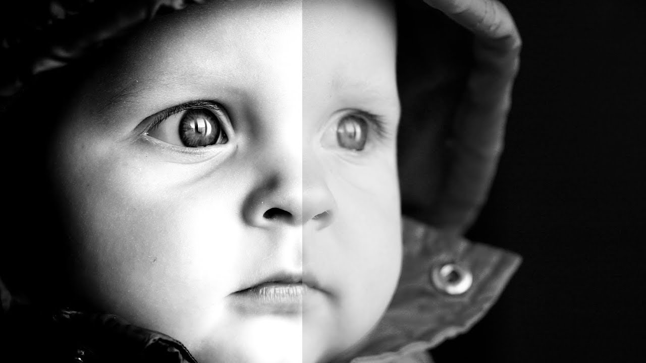 How to create a Stunning Black and White photo effect in Photoshop Tutorial  YouTube