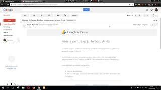 Gajian Pertama dari Google Adsense. Liat Sendiri jumlahnya bikin Melongo