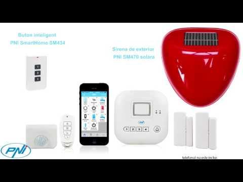 Kit casa inteligenta PNI SmartHome SM400 cu functie de sistem de alarma si acces prin internet