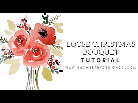 how-to-paint-a-loose-holiday-bouquet-|-beginner-watercolor-tutorial