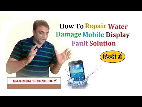 How to repair water damage  mobile display fault solution
