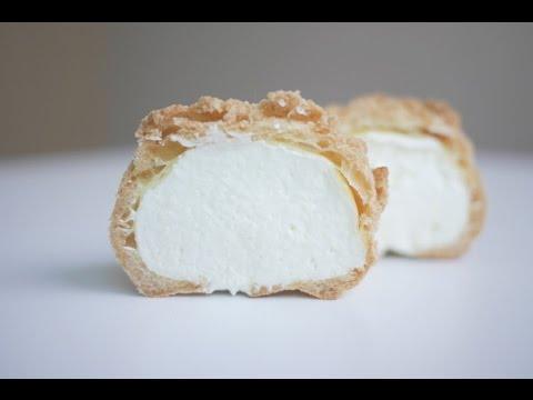 쿠키슈 만들기 슈크림 | 한세 Vanilla Cream Puffs