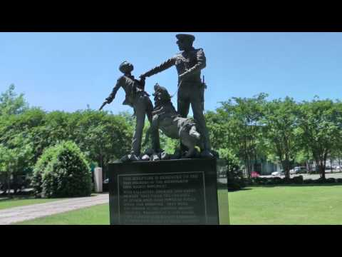 22. Civil rights statue in Birmingham central park, Alabama
