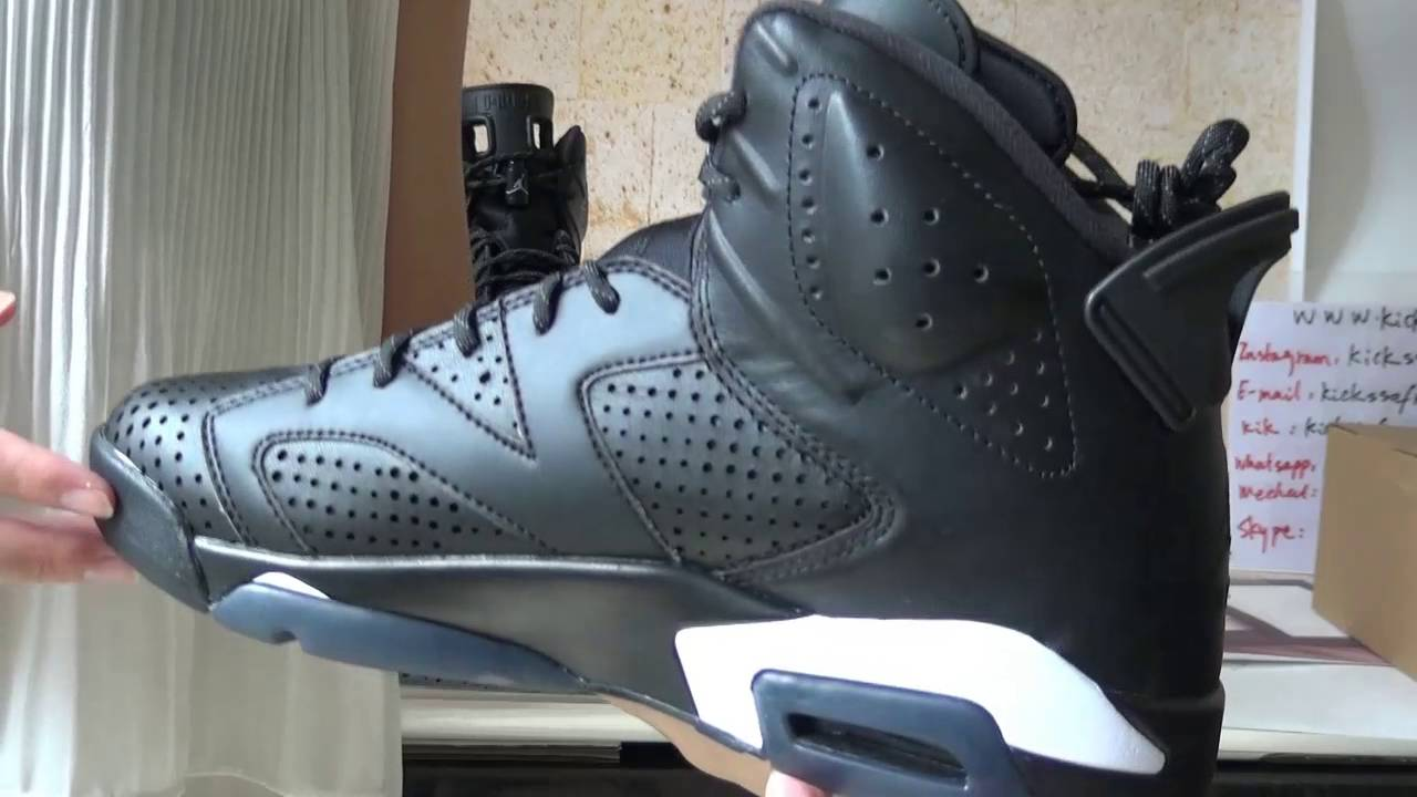 air jordan 6 black cat fake vs real