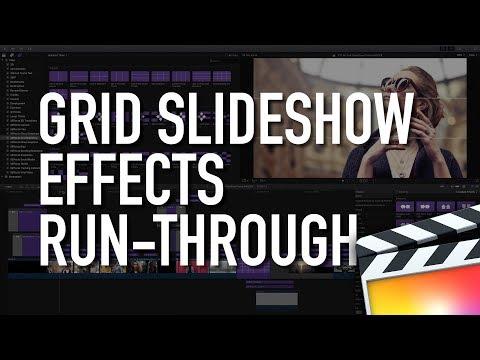 Run-Through of Grid Slideshow Plugin Effects for Final Cut Pro X FCPX