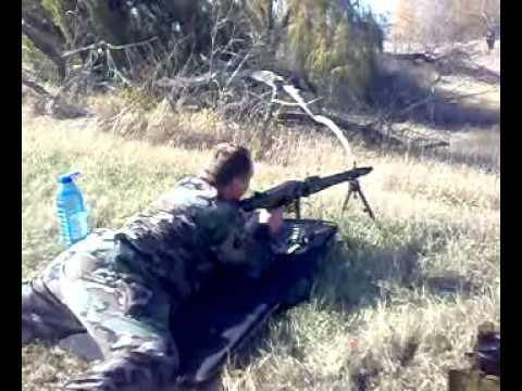 Стрельба из автомата очередью Shooting A Machine Gun Burst