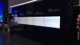 China Suzhou Science and Technology Exhibition Hall 1*4 Interactive LCD Mosaic Video Wall