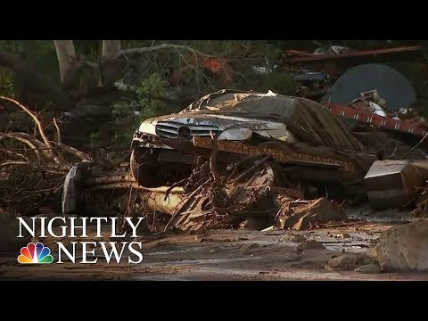 After Devastating Mudslides, Californians Search For The Missing | NBC Nightly News
