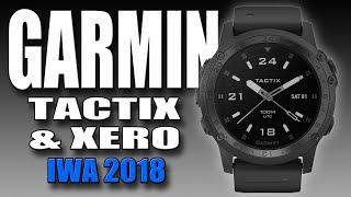 New Garmin smartwatch Tactix Charlie and bow hunting sight Xero A1 (IWA 2018)