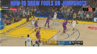 How To Draw Fouls on jumpshots NBA 2K19