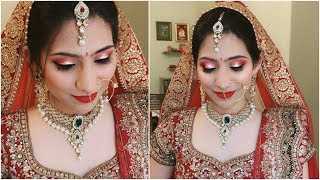 Using 10 Products - Indian BRIDAL MAKEUP Tutorial In HINDI | Anaysa