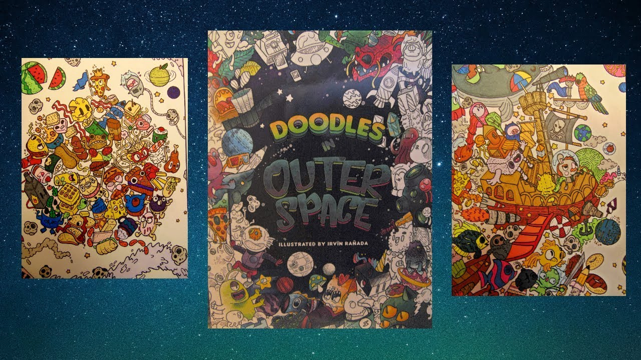 Doodles In Outer Space Coloring Book Review