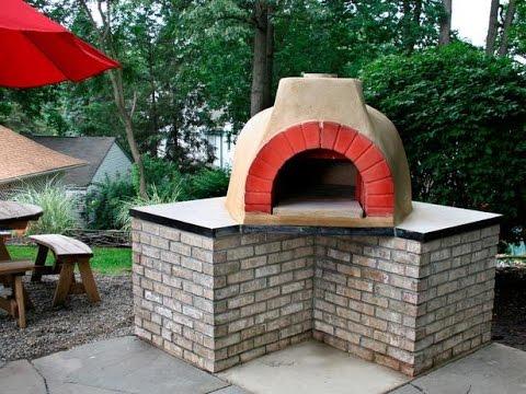 Outdoor Küche Pizza Ofen : Pizzaofen im garten selber bauen youtube