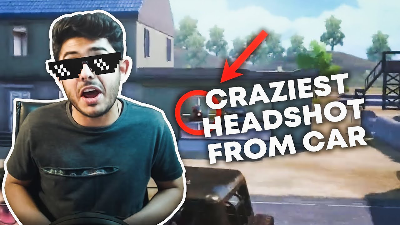 HEADSHOT FROM MOVING CAR - PUBG MOBILE FUNNY MOMENTS - CARRYMINATI HIGHLIGHT